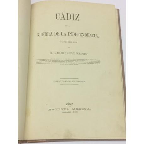 Cádiz en la Guerra de la Independencia. Cuadro histórico.