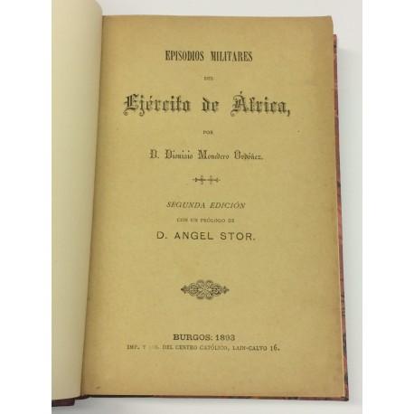 Episodios militares de la Guerra de África. Con un prólogo Ángel Stor.