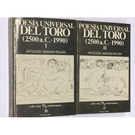 Poesía universal del toro (2500 a. C. - 1990).