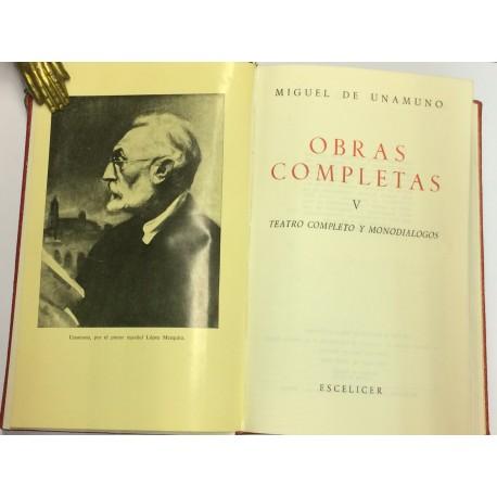 Obras completas. Tomo V: Teatro completo y monodiálogos.