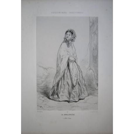 Litografía perteneciente a la obra: Par-ci par-la et physionimies parisiennes. Nº 2.