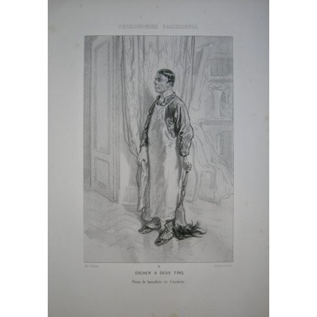 Litografía perteneciente a la obra: Par-ci par-la et physionimies parisiennes. Nº 31.