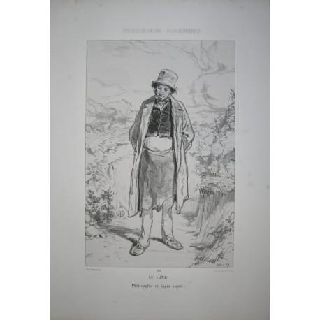 Litografía perteneciente a la obra: Par-ci par-la et physionimies parisiennes. Nº 29.