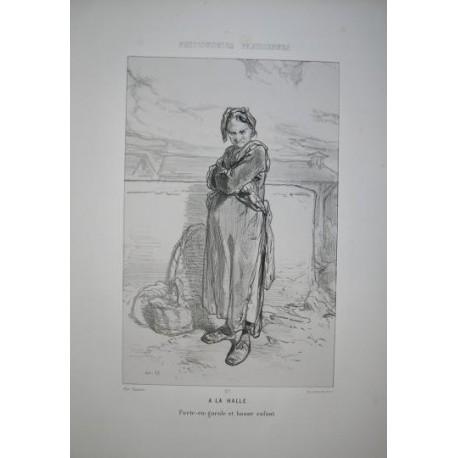 Litografía perteneciente a la obra: Par-ci par-la et physionimies parisiennes. Nº 27.