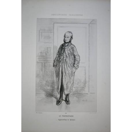 Litografía perteneciente a la obra: Par-ci par-la et physionimies parisiennes. Nº 26.