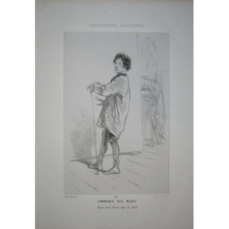 Litografía perteneciente a la obra: Par-ci par-la et physionimies parisiennes. Nº 24.