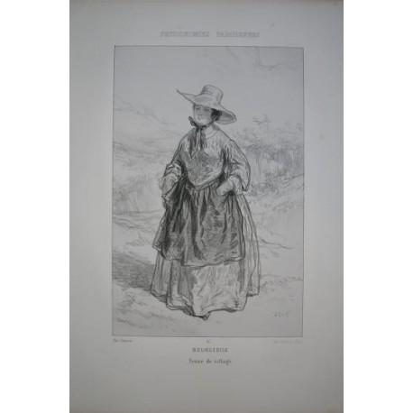 Litografía perteneciente a la obra: Par-ci par-la et physionimies parisiennes. Nº 15.