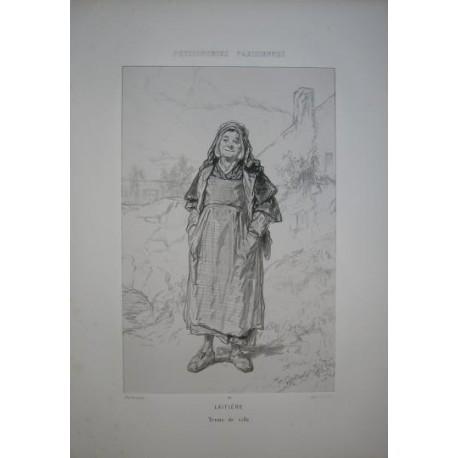 Litografía perteneciente a la obra: Par-ci par-la et physionimies parisiennes. Nº 14.
