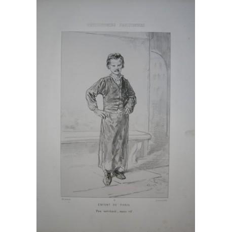Litografía perteneciente a la obra: Par-ci par-la et physionimies parisiennes. Nº 11.