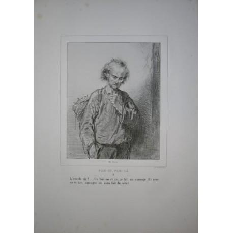 Litografía perteneciente a la obra: Par-ci par-la et physionimies parisiennes. Nº 8.
