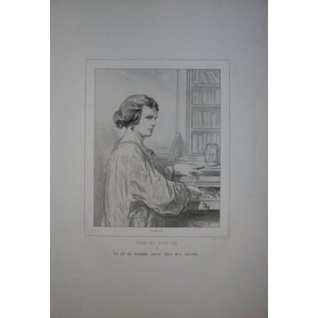 Litografía perteneciente a la obra: Par-ci par-la et physionimies parisiennes. Nº 3.