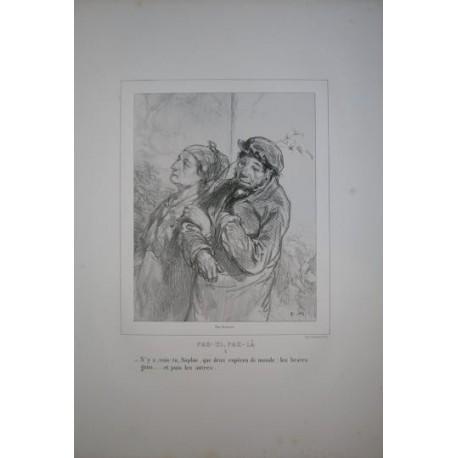 Litografía perteneciente a la obra: Par-ci par-la et physionimies parisiennes. Nº 4.