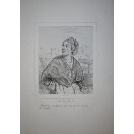 Litografía perteneciente a la obra: Par-ci par-la et physionimies parisiennes. Nº 5.