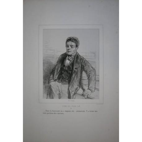 Litografía perteneciente a la obra: Par-ci par-la et physionimies parisiennes. Nº 6.