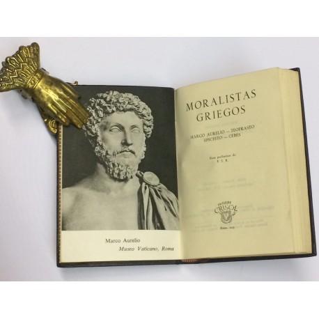 Moralistas griegos. Marco Aurelio, Teofrasto, Epicteto, Cebes.