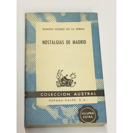 Nostalgias de Madrid.