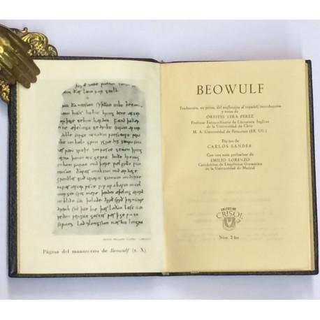 BEOWULF. Traducción, en prosa del anglosajón al español, introducción y notas de Orestes Vera Pérez. Pórtico de Carlos Sander.