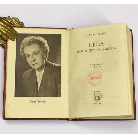 Celia Institutriz en América.