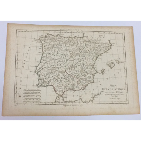 Mappa Hispanieae Antiquae - Mapa España Antigua.