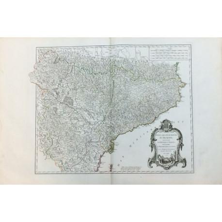 Etats de la Couronne d'Aragon - MAPA DE ESPAÑA CORONA DE ARAGÓN, NAVARRA Y PRINCIPADO DE CATALUÑA.