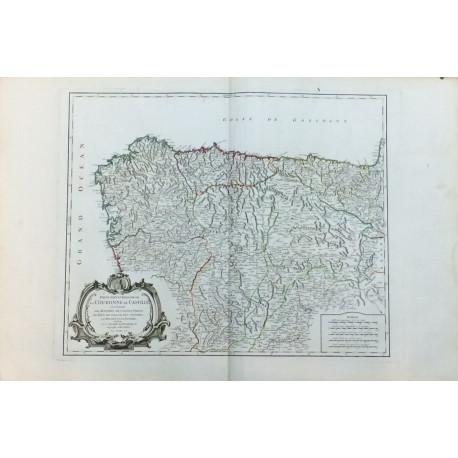Partie Septentrionale de la couronne de Casille - MAPA DE ESPAÑA PARTE SEPTENTRIONAL CORONA DE CASTILLA