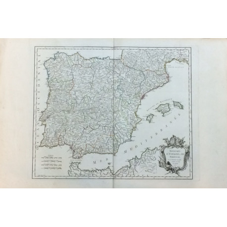 Royaumes d'Esgpane et de Portugal - MAPA DE LOS REINOS DE ESPAÑA Y PORTUGAL.