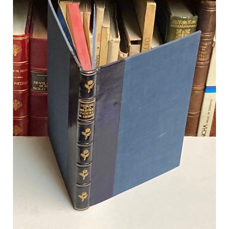Catálogo de la Biblioteca Taurina.