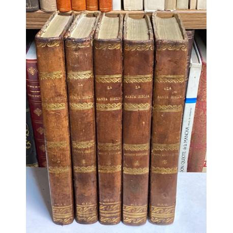 La Santa Biblia traducida al español de la vulgata latina y anotada conforme al sentido de los Santos Padres.