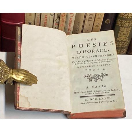 Les Poesies d'Horace, traduites en françois par l' Abbé B Atteux.