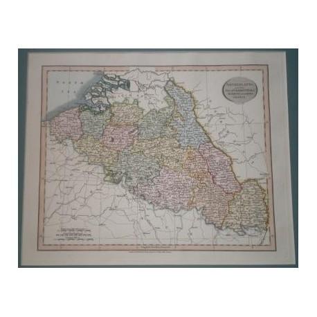 Antiguo mapa de HOLANDA PAISES BAJOS NETHERLANDS perteneciente a CARY´S NEW UNIVERSAL ATLAS.