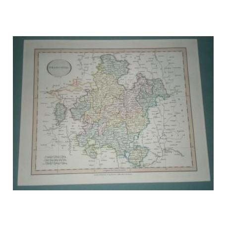 Antiguo mapa de FRANCIA FRANCONIA perteneciente a CARY´S NEW UNIVERSAL ATLAS.