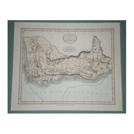 Antiguo mapa de CABO DE BUENA ESPERANZA CAPE OF GOOD HOPE perteneciente a CARY´S NEW UNIVERSAL ATLAS.