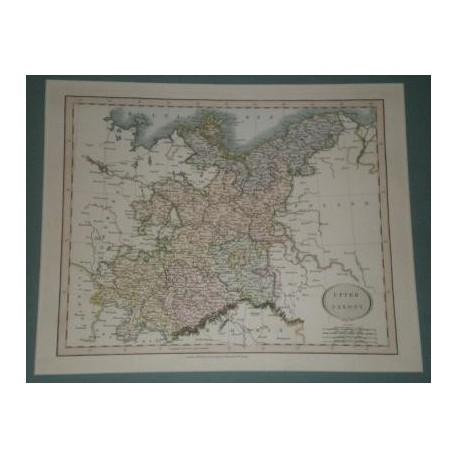 Antiguo mapa de SUPERIOR SAJONIA UPPER SAXONY perteneciente a CARY´S NEW UNIVERSAL ATLAS.