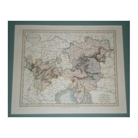 Antiguo mapa de AUSTRIA perteneciente a CARY´S NEW UNIVERSAL ATLAS.