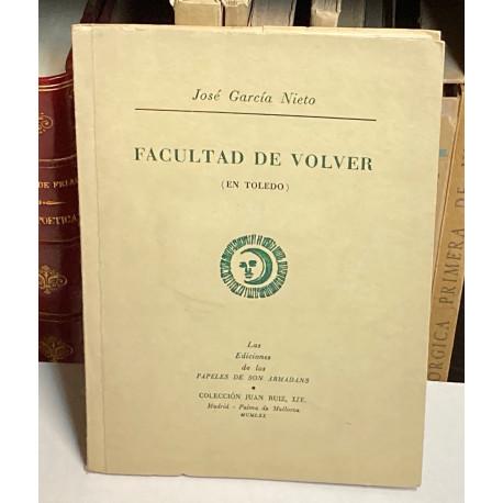 Facultad de Volver (en Toledo).