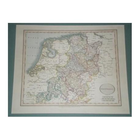 Antiguo mapa de WESTPHALIA WESTFALIA perteneciente a CARY´S NEW UNIVERSAL ATLAS.