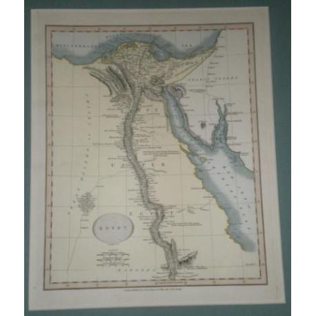 Antiguo mapa de EGIPTO EGYPT perteneciente a CARY´S NEW UNIVERSAL ATLAS.
