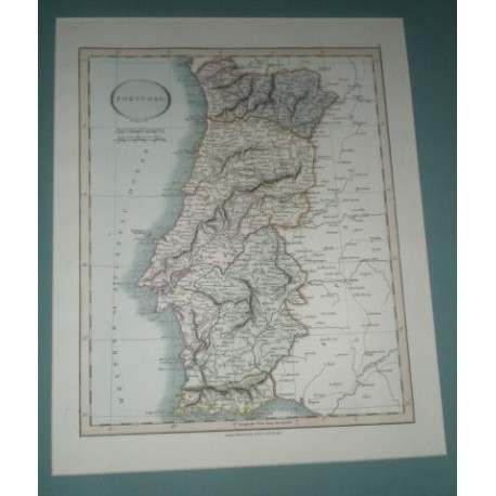 Antiguo mapa de PORTUGAL perteneciente a CARY´S NEW UNIVERSAL ATLAS.