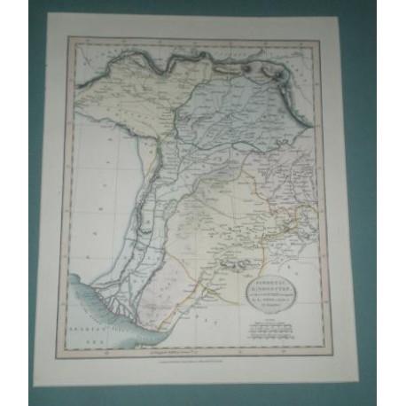 Antiguo mapa de INDOSTAN SYNDETIC HINDOOSTAN perteneciente a CARY´S NEW UNIVERSAL ATLAS.