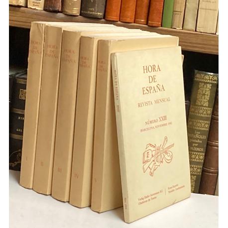 HORA DE ESPAÑA. Reimpresión anastática de la edición de Valencia-Barcelona, 1937-1938.
