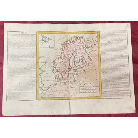 Géographie moderne: MAPA DE SUECIA (Europa).