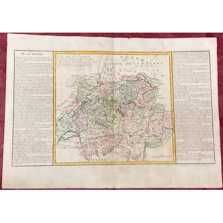 Géographie moderne: MAPA DE SUIZA (Europa).