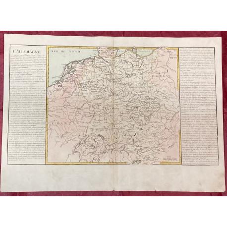 Géographie moderne: MAPA DE ALEMANIA (Europa).