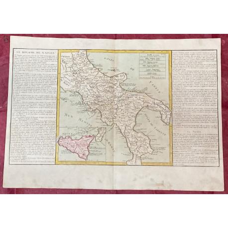 Géographie moderne: MAPA DEL REINO DE NÁPOLES ITALIA (Europa).