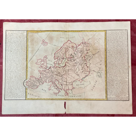 Géographie moderne: MAPA CON LAS RIVERAS Y PRINCIPALES MONTAÑAS DE EUROPA.