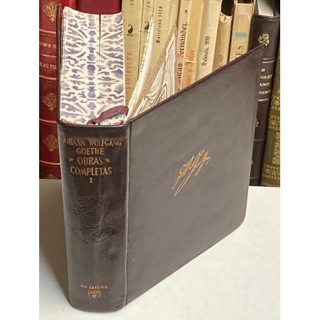 Obras Literarias. Tomo I: Miscelánea, Teoría de los Colores, Poesía, Novela. Traducción Rafael Cansinos Assens.