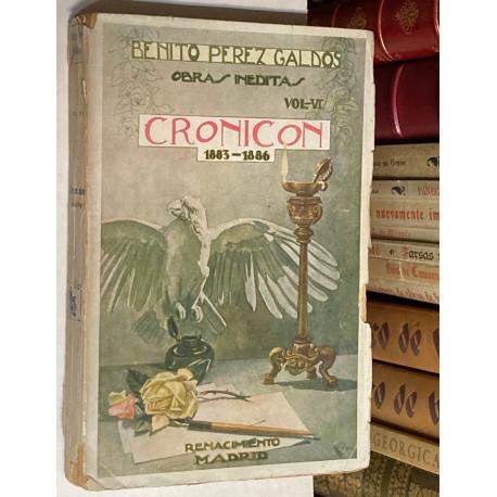 Obras inéditas. Volumen VI: Cronicón (1883-1886).