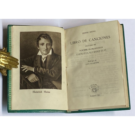Libro de Canciones, seguido de Noches Florentinas y Espíritus Elementales.