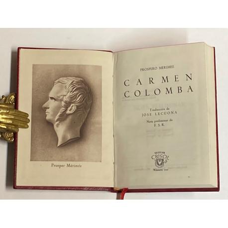Carmen. Colomba. Traducción de José Lecuona. Nota preliminar de F.S.R.