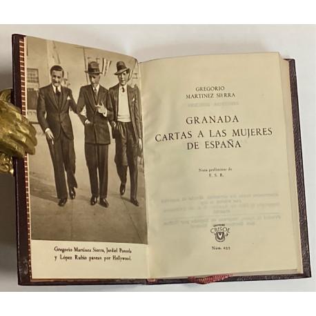 Granada. Cartas a las mujeres de España. Nota preliminar de F.S.R.
